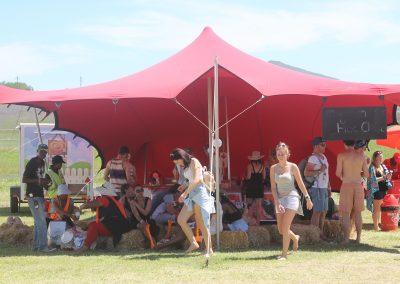 6 X 6 Red Stretch Tent